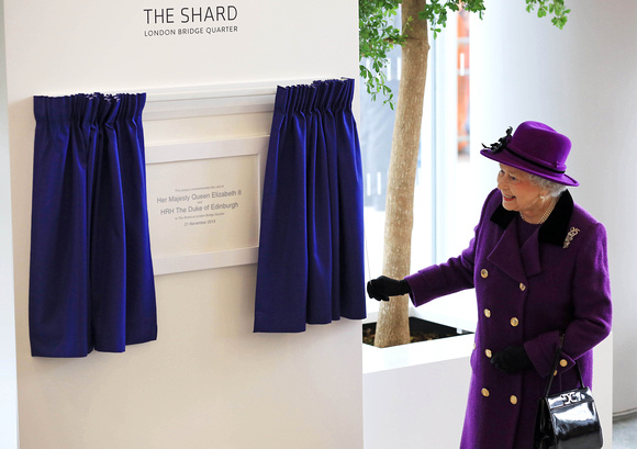 HM The Queen visit to the View from the Shard